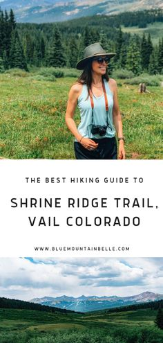 Shrine Ridge Trail, Vail Hiking Shrine Ridge Trail in Vail Colorado - A great trail for big views and wildfowers Vail Colorado, Colorado Hiking, Hiking Guide, Hiking Trails, Best Hiking Shoes, Hiking Boots, Best Hikes, Hiking Backpack, Backpacker