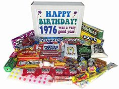 1976 Birthday Gift Basket Box Retro Nostalgic Candy From Childhood Jr – Gourmet Gifts 50th Birthday Party Games, 50th Birthday Gifts, Birthday Ideas, Fiftieth Birthday, Funny Birthday, Happy Birthday, Nostalgic Candy, Retro Candy, Birthday Gift Baskets