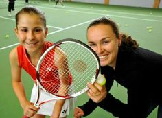 Old photo of Belinda Bencic and Martina Hingis together #perspective
