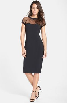 Maggy+London+Illusion+Yoke+Crepe+Sheath+Dress+(Regular+&+Petite)+available+at+#Nordstrom