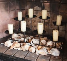 Candles For Fireplace Decor so many great ideas for non working fireplace! candles on top of