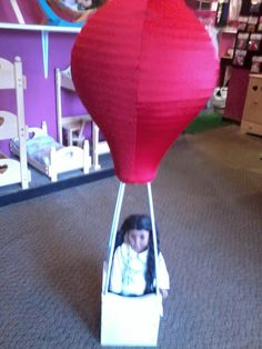American girl doll sized hot air balloon