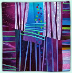 Melody Johnson: Art Quilts - Galleries - Streets and Rivers Series.  Via Violetta