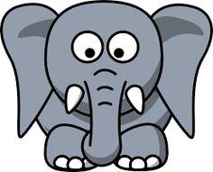cartoon elephant - Buscar con Google