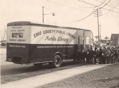 Mobile library, Erie County (N. Library Week, Library Room, Mobiles, Mobile Library, Librarian Style, Erie County, Beautiful Library, Vintage Library, Old Libraries
