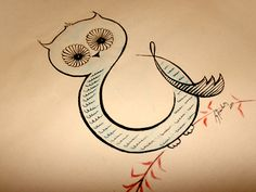 Ampersand Owl  by Ema Hoffmann | Limeshot