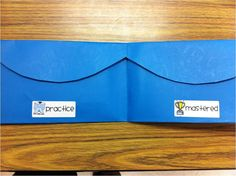 """Use a pocket folder to create a """"Mastery Pocket"""" and store flashcards.  Brilliant!"""