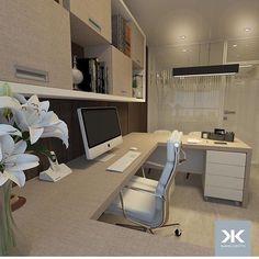 Home office por Daniel Kroth Arquitetura Office Layout Plan, Home Office Layouts, Office Plan, Home Office Decor, Home Decor, Office Interior Design, Office Interiors, Interior Decorating, Bar Furniture