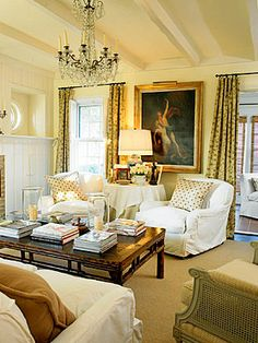 """Benjamin Moore Golden Straw - Ruth Burts Interiors: """"What are some great neutral paint colors?"""""""