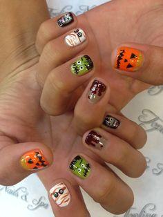 Toplinenails tryit Halloween design