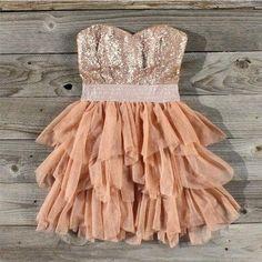 Sparkly dress.