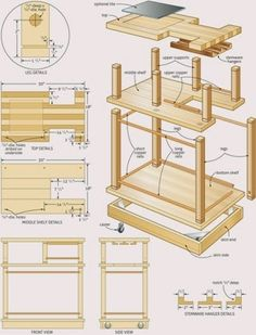Furniture Woodworking Plans - Building furniture with good furniture woodworking plans Need this to make a small chopping block on wheels that is easy to transport or can be taken out.