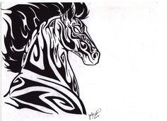 Tribal Horse by darkmoonwolf21 on deviantART