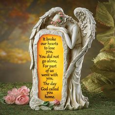 Resin Crying Angel Solar Memorial Garden Stone Lights Up Automatic at Night Angel Garden Statues, Fairy Statues, Garden Angels, Memorial Garden Stones, Memorial Flowers, Crying Angel, Prayer Garden, Grave Decorations, Grieving Mother