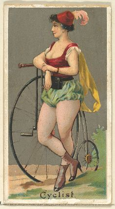 Cyclist, from the Occupations for Women series (N166) for Old Judge and Dogs Head Cigarettes