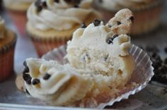 Chocolate Chip Cookie Dough Stuffed Cupcake