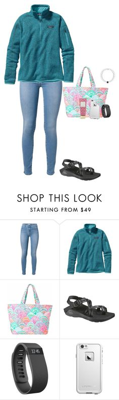 """""""hope he is thinking about me too..."""" by jackelinhernandez ❤ liked on Polyvore featuring 7 For All Mankind, Patagonia, Lilly Pulitzer, Chaco, Fitbit, LifeProof and Vera Bradley"""