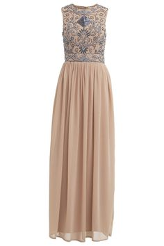 Lace & Beads Party Dress<br /> <br /> - Delicate chiffon fabric<br /> - Maxi length<br /> - Embellished detail <br /> - Cut out back <br /> - Zip to reverse<br /> <br /> Care: 100% Polyester, Lining: 100% Polyester <br /> <br /> Hand wash only