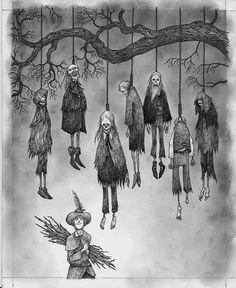 Scary Drawings, Dark Art Drawings, Art Drawings Sketches, Mermaid Drawings, Arte Horror, Horror Art, Dark Art Illustrations, Illustration Art, Arte Indie