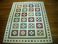 I love this 9 patch quilt.... the colours are perfect