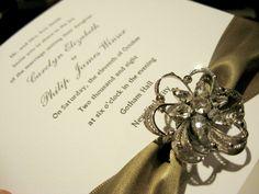 dolce letterpress...invitation delivered in custom hand-made silk boxes...