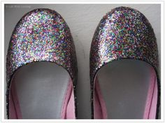 Mod Podge glitter shoes. So doing this for Josie.