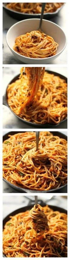 Simple Spaghetti Fra Diavolo - This recipe is a weeknight dreeeeeam! Comes together so quickly