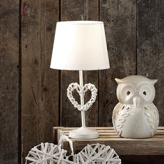 Wicker Heart Table Lamp | Dunelm Mill