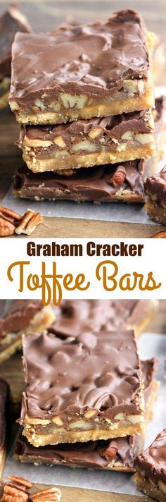 Graham Cracker Toffee Bars - only 5 ingredients to make. Graham Cracker Toffee Bars - only 5 ingredients to make the Graham Cracker Toffee Bars - only 5 ingredients to make the tastiest easiest toffee bars! Perfect for an easy holiday treat. Candy Recipes, Baking Recipes, Sweet Recipes, Holiday Recipes, Dessert Recipes, Bar Recipes, Recipies, Baking Ideas, Holiday Treats