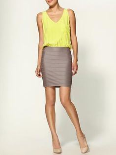 ShopStyle: Eight Sixty Color Block Dress