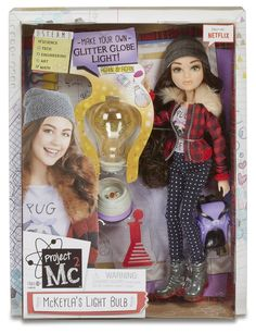 """Project Experiments with Dolls - McKeyla's Glitter Light Bulb - MGA Entertainment - Toys """"R"""" Us Lol Dolls, Barbie Dolls, Projekt Mc2, Project Mc2 Toys, Project Mc Square, Experiment, Minnie Mouse Toys, Globe Art, All Toys"""