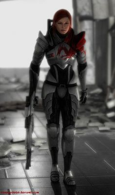 Femshep ... This could work as a conection point for a Mass Effect/Dragon Age cross-over fic, no? ;-} ... I think it could!