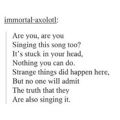 Yes, I'm a freak and sung this in my head
