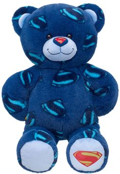 Build a Bear Superman Superhero Themed Teddy See BAB bears stuffed plush toy animals In Stock Now at In Stock Now at http://www.bonanza.com/booths/TweetToyShop