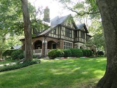 "Tudor style storybook house of the early to mid 1900's - the ""lodge"" style of it's time"