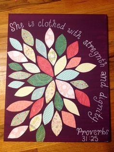 Proverbs 21:35 scrapbook paper flower!