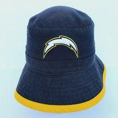 NFL Los Angeles Chargers Bucket Hat by Reebok Navy Size Small #Reebok #LosAngelesChargers Nfl Los Angeles, Nfl Team Apparel, Brunei, St Kitts, Reebok, Bucket Hat, Football, Navy, Antigua