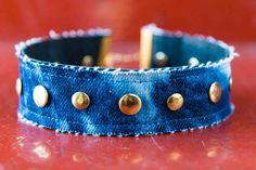 """Sky Blue"" Choker, shop online now! #noknokklondon #denim #choker #womensfashion #jewellery #studded #distressed"