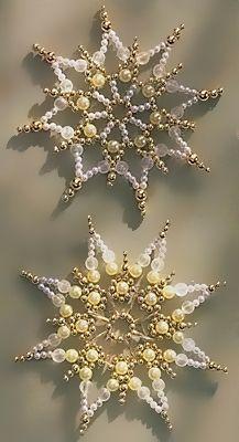 Pattern bijoux: Snowflakes Visit Site for Tutorial