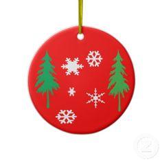 Trees & Snowflakes Christmas Tree Ornament