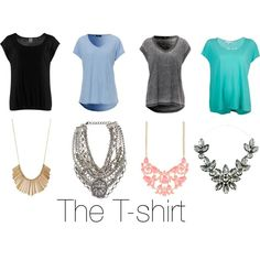 """How to Wear: Statement Necklaces (The T-Shirt)"""