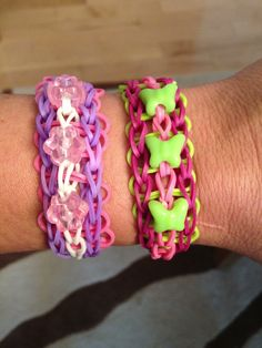Rainbow Loom triple with beads