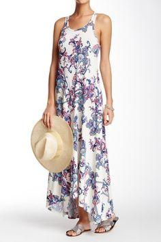 Printed Hi-Low Maxi Dress