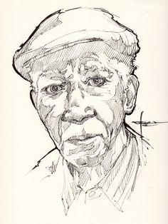 Ink-portrait-004 by mekhz.deviantart.com on @deviantART