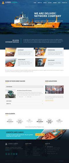 Logistics WordPress Theme is designed specially for Logistics, #transport…