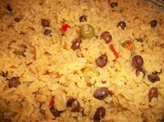 Arroz con Gandules (Rice with Pigeon Peas). I have perfected the Fraticelli family recipe, thanks to my mother-in-law : )
