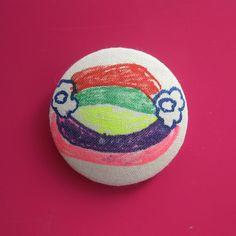 Double Rainbow Spirited Art, Rainbow, Buttons, Creative, Artist, Fabric, Projects, Handmade, Rain Bow