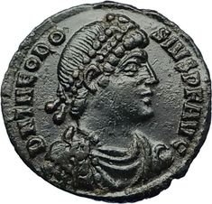 THEODOSIUS I the GREAT 378AD Constantinople Authentic Ancient Roman Coin i69552 Ancient Roman Coins, Ancient Romans, Old Coins, Rare Coins, Zombie Army, Coin Collecting, Roman Empire, Byzantine, Middle Ages