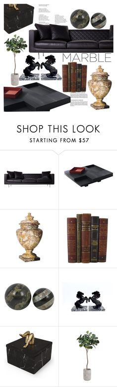 """""""Classic Elegance: Marble Home"""" by indhrios ❤ liked on Polyvore featuring interior, interiors, interior design, home, home decor, interior decorating, Moooi, Kelly Wearstler and marblehome"""
