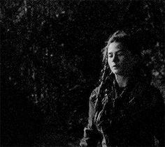 Madi grabbing Bellamy to bring him to Clarke.
